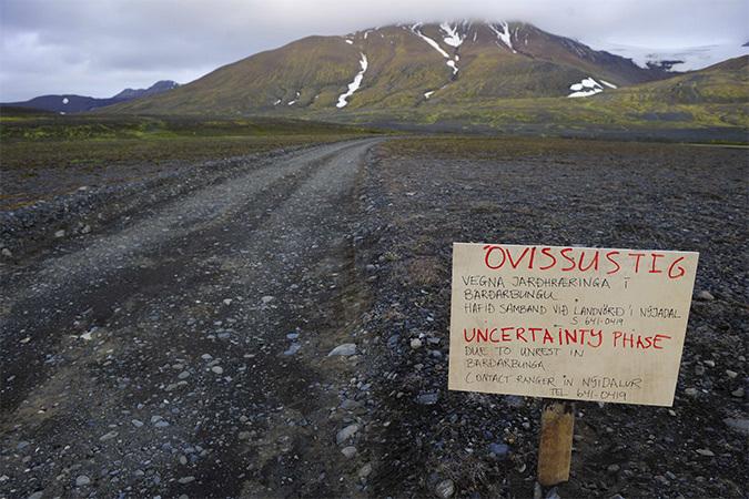 В Исландии началось извержение вулкана Баурдарбунга
