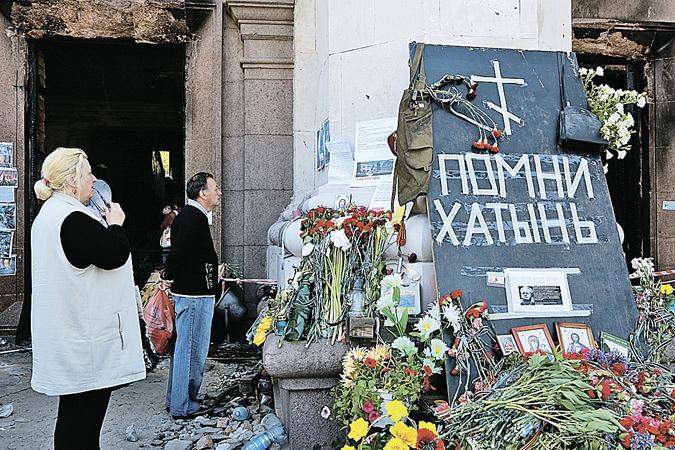 Последствия трагедии в Доме Профсоюзов, куда активисты «Правого сектора» загнали сторонников федерализации.