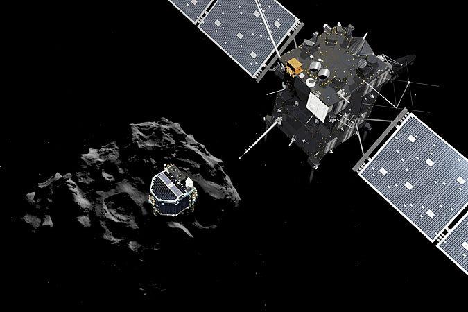 В среду вечером спускаемый аппарат «Фила» отделился от космического зонда «Розетта»