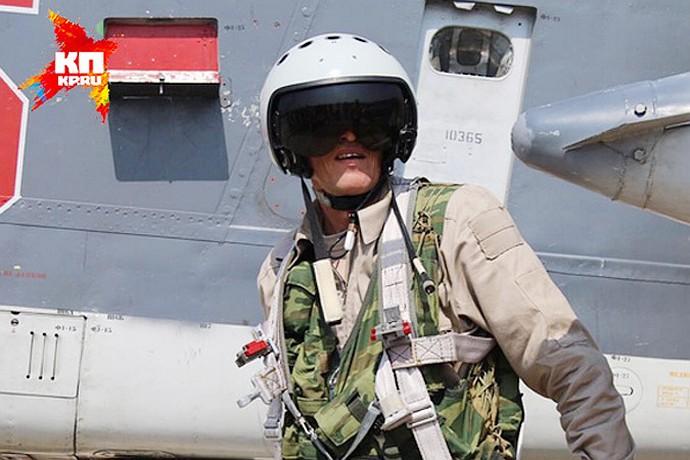 Первое фото российского пилота в Сирии