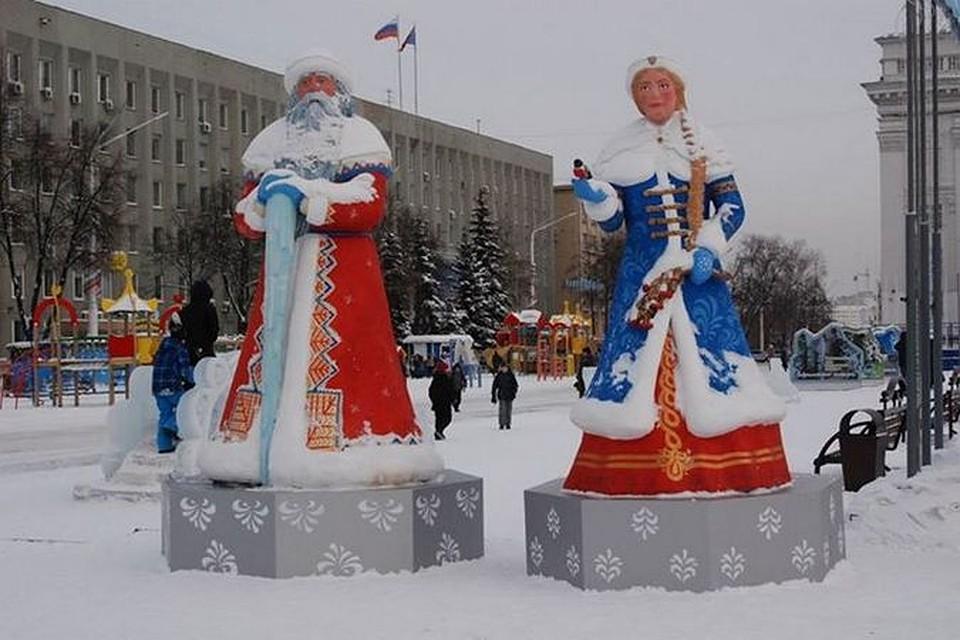 Дед мороз своими руками на улице
