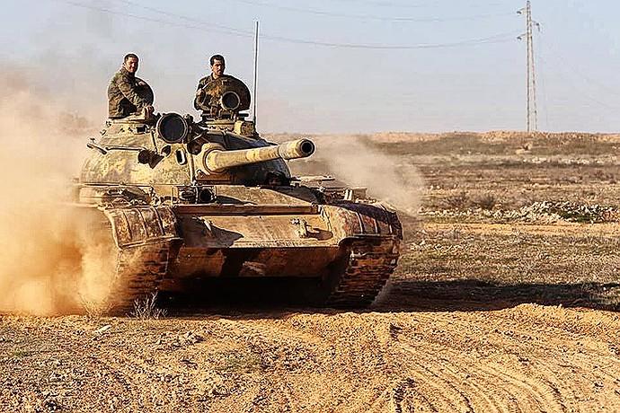 Правительственные войска Сирии начали наступать на позиции террористов ИГИЛ в провинции Ракка.