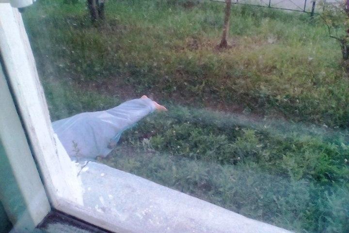 Тело пролежало под окнами более пяти часов. Фото: Анна ЩЕТИНИНА/ВКонтакте