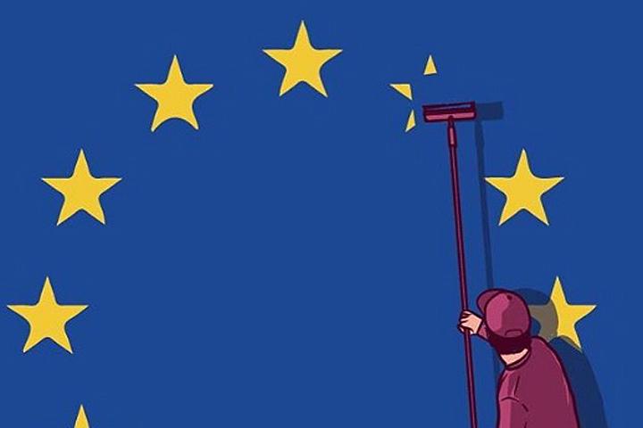 В Интернете стали молниеносно появляться карикатуры, публикуемые под тегом Brexit