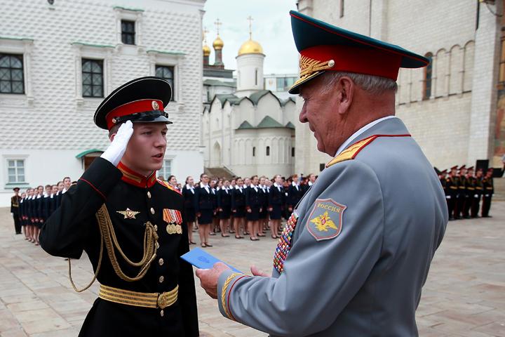 Набор в военные училища в этом году составил 2,3 тыс детей. Фото: Управление пресс-службы и информации Минобороны России