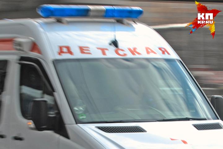 Вбрянском дворе иностранная машина сбила пятилетнего ребенка