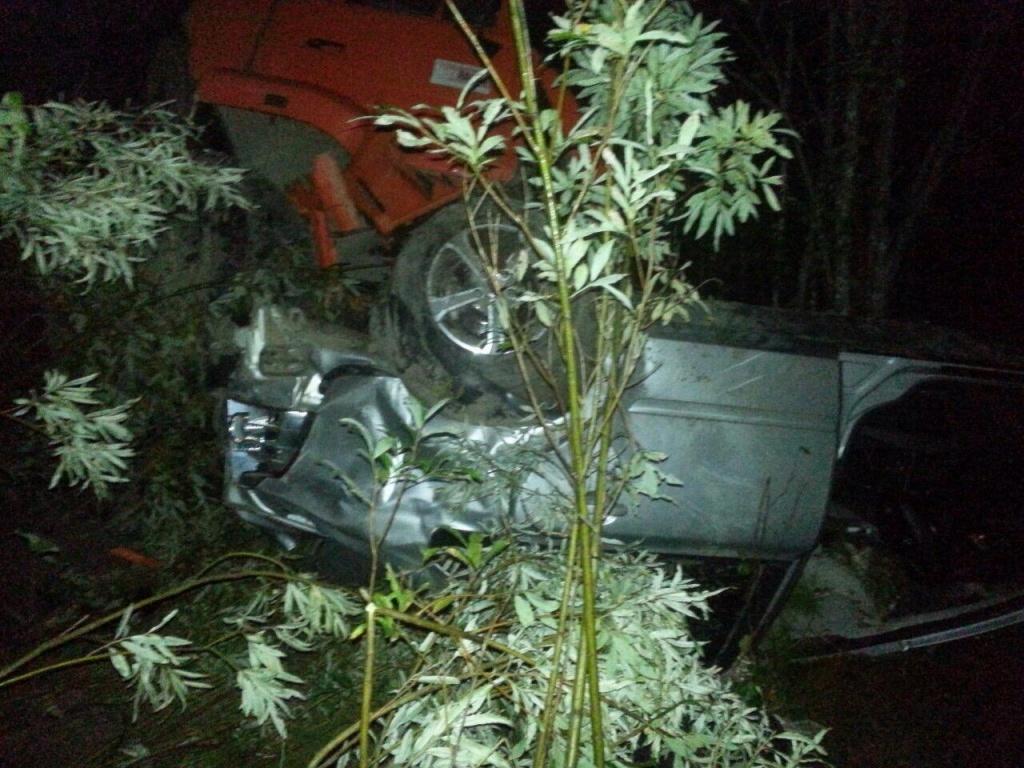 ВНижневартовском районе иностранная машина влетела под КамАЗ