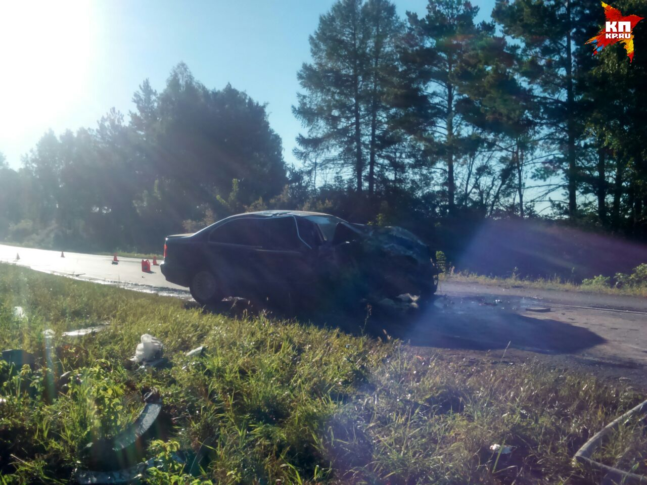 ВДТП под Белоярским всгоревшей машине погибли три человека