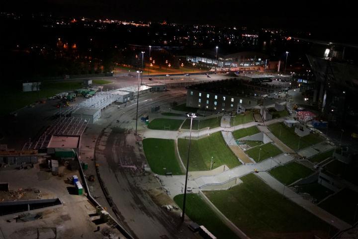Подсветку зоны контроля доступа вокруг «Зенит— Арены» запитали попостоянной схеме
