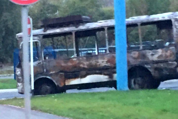 ВНовокузнецке нагазовой заправке сгорел автобус ПАЗ