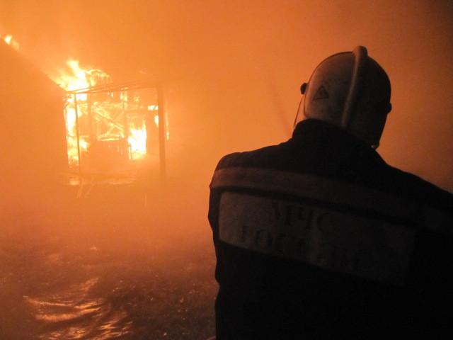 ВАлексинском районе сгорел дом, сарай имотоблок