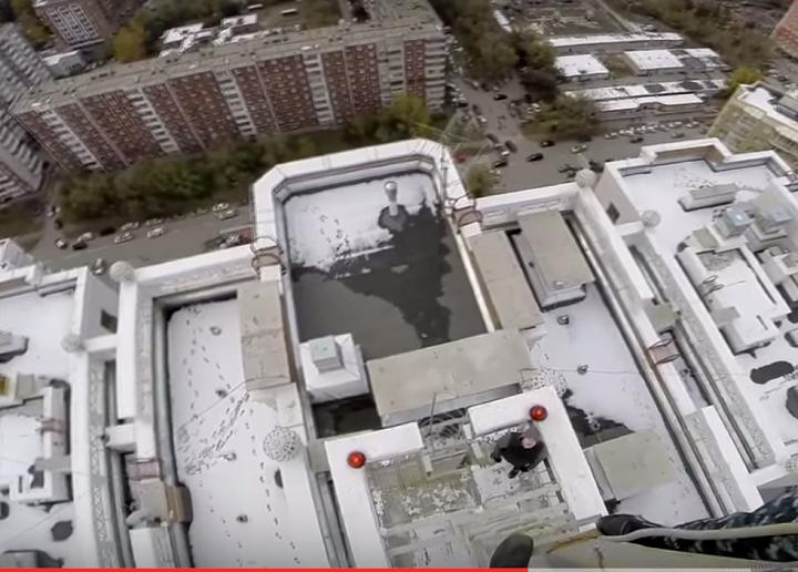 Руферы залезли насамое высокое сооружение Новосибирска