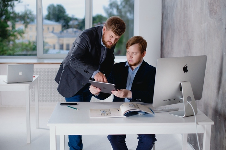 основатели студии Motionpix Александр Красюк и Никита Енакаев.