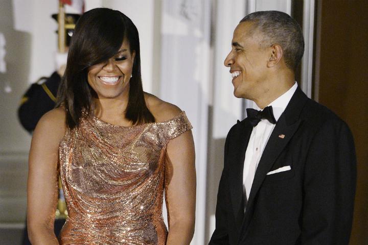 Барак и Мишель ОБама в последний раз приняли гостей в Белом доме.