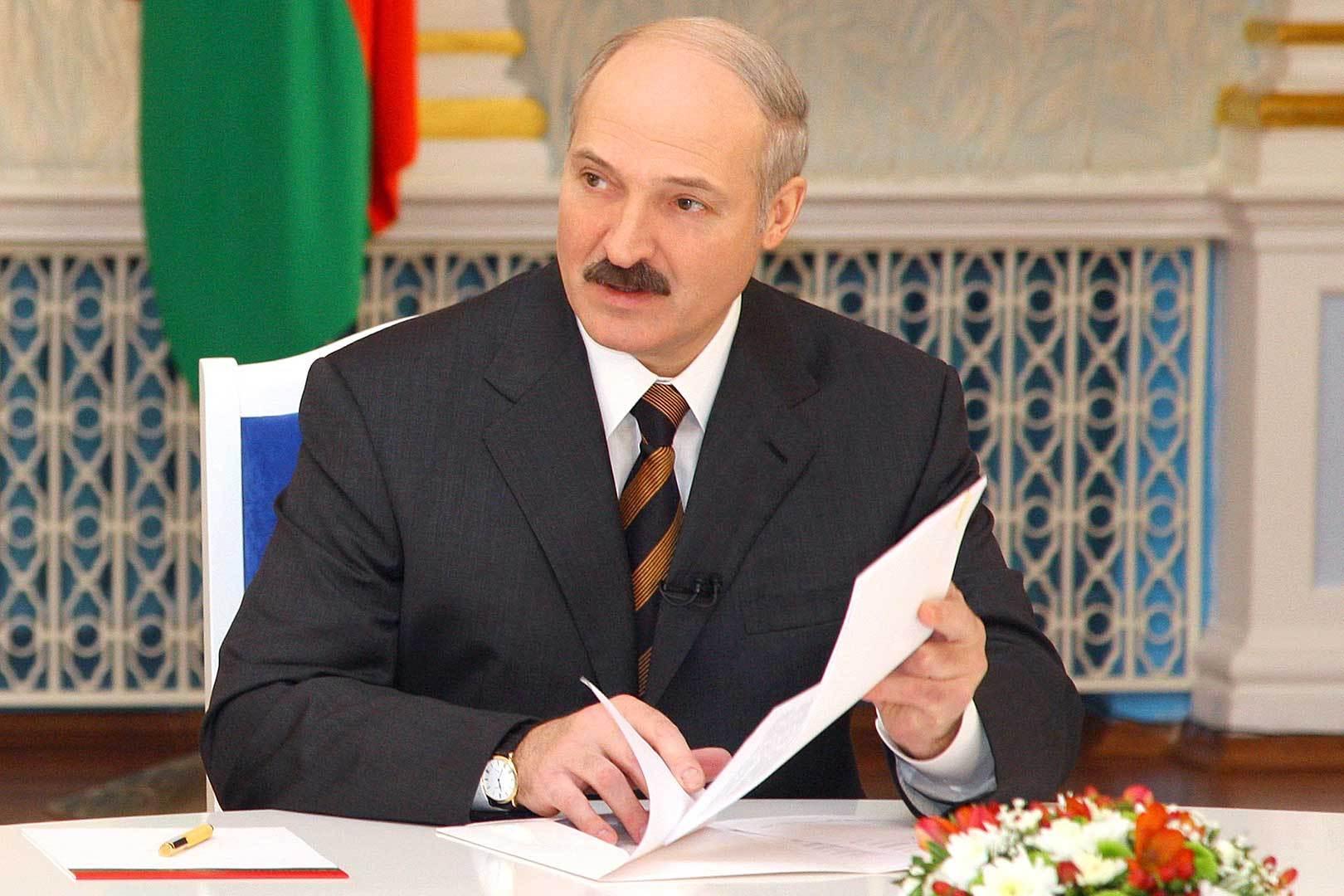 Лукашенко о космонавте Олеге Новицком: Настоящий белорусский парень. ФОТО: БелТА