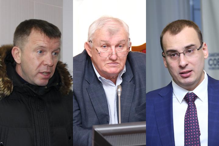 Слева направо: депутаты Дмитрий Козловский, Александр Козлов и Иван Сидоренко.