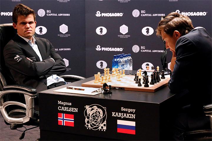 Сегодня ночью Карлсен и Карякин разыграют звание чемпиона мира по шахматам Карлсен и Карякин разыграли звание чемпиона мира по шахматам