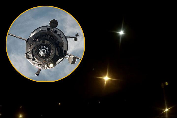 «Прогресс МС-04» был потерян на высоте 190 километров над территорией Тувы Фото: NASA, скрин с видео