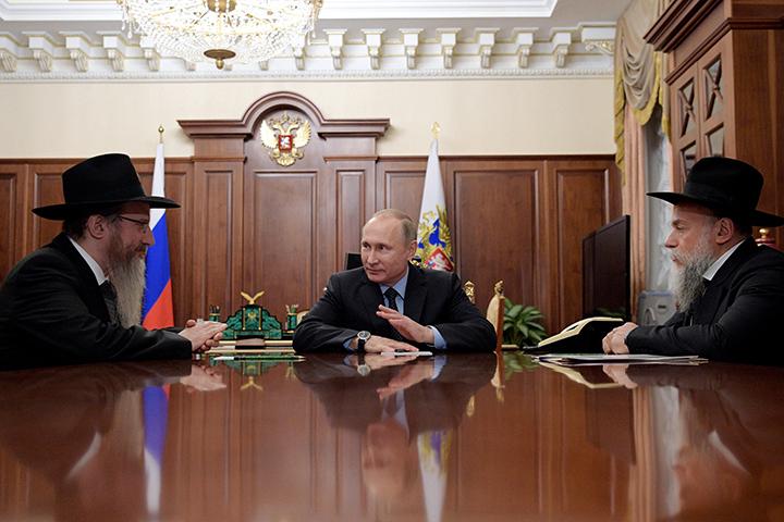 Путин обозначил вклад израильской общины вразвитие межконфессионального разговора вРФ