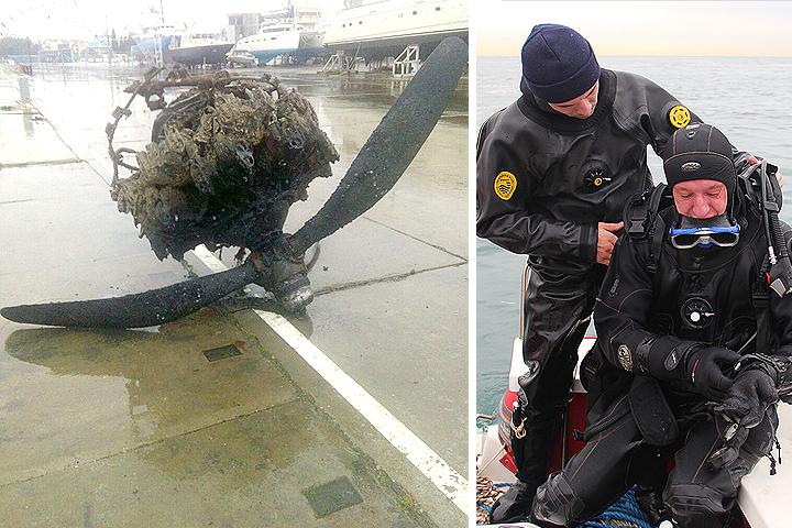 МЧС показало найденный вЧерном море американский самолет
