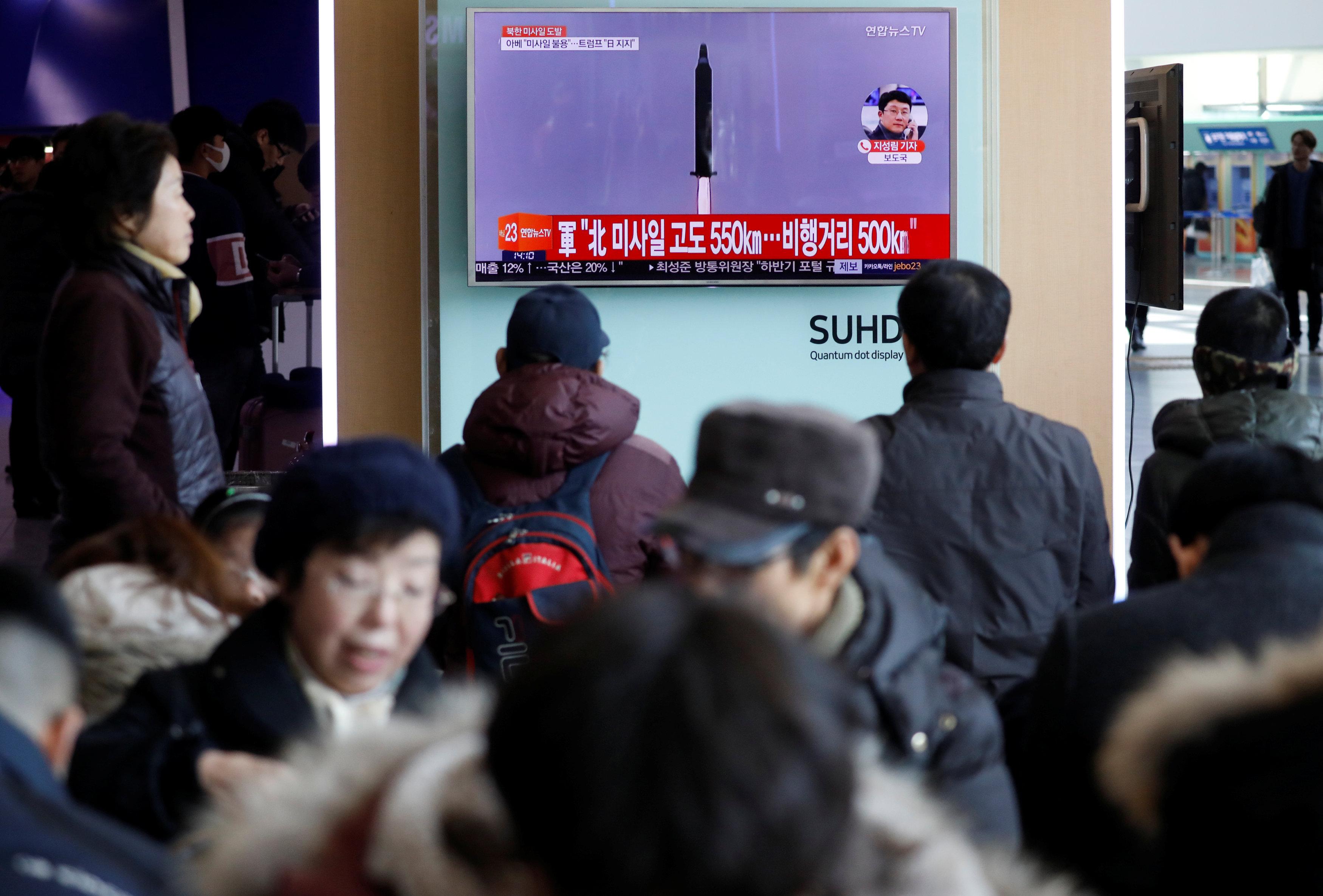 КНДР сообщила обиспытании баллистической ракеты