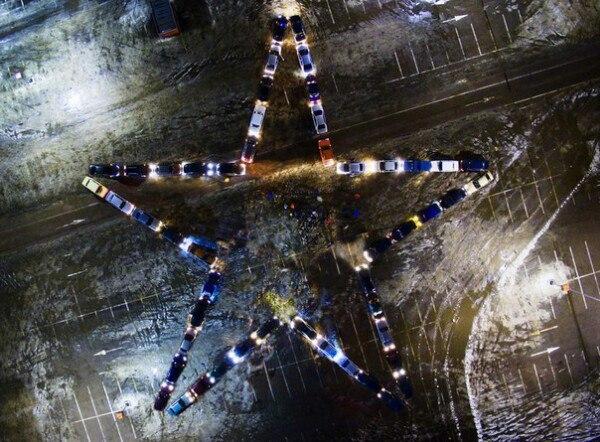 Воронежцы выстроят автомобили вформе звезды к23февраля