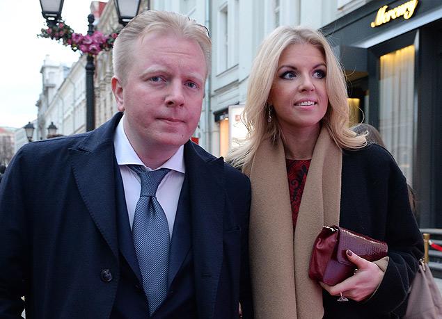 Генеральный директор российского авторского общества Сергей Федотов с супругой. Фото: РИА Новости