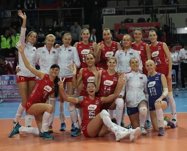 Наши волейболистки на олимпийском квалификационном турнире не проиграли ни одного матча Фото: GLOBAL LOOK PRESS