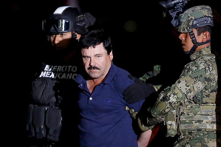 В Мексике поймали самого разыскиваемого преступника страны - наркобарона Хоакина Гусмана Лоэры по прозвищу Эль Чапо («Коротышка»). Фото: REUTERS