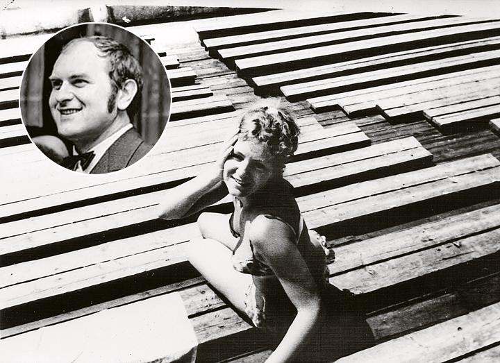 Редкий кадр, запечатлевший артистку на отдыхе. Она любила плавать, но свободного времени было мало. Кстати, со своим будущим мужем Збигневом (на фото вверху) Анна познакомилась в бассейне. Фото: Личный архив Ивана Ильичева