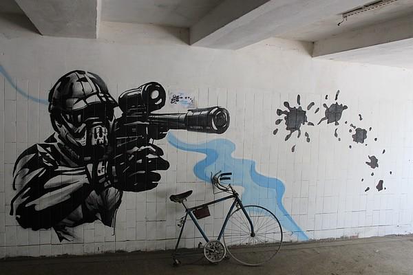 Подземные переходы Симферополя разрисовали графическими рисунками [Фото] фото 3