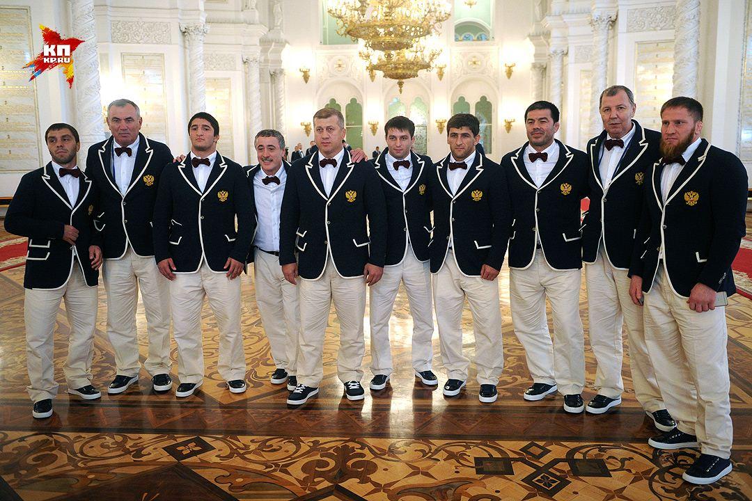 Российские олимпийцы на приеме в Кремле. Фото: Владимир ВЕЛЕНГУРИН
