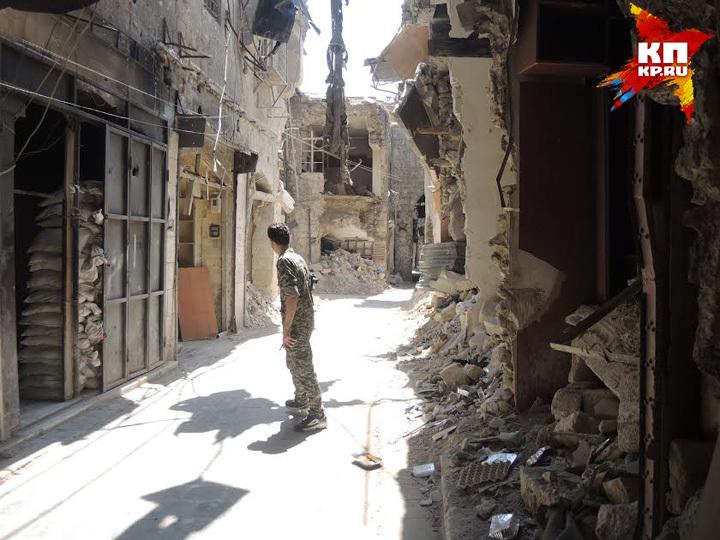 Развалины древнего города Алеппо, объекта Всемирного наследия Юнеско Фото: Дарья АСЛАМОВА