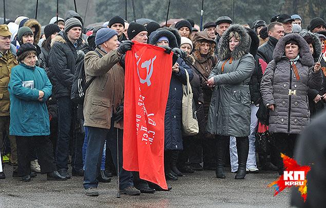 Центр Одессы. Здесь сегодня в почете советский флаг с серпом и молотом. Фото: Анатолий ЖДАНОВ