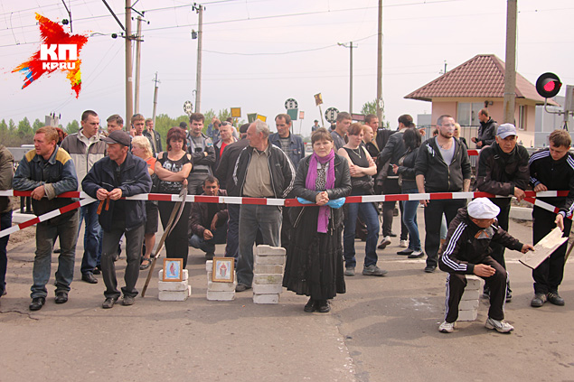 Украинские десантники блокированы местными жителями с обеих сторон в районе Андреевки