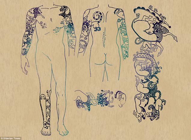 Татуировки располагались по всему телу Принцессы Укоки Фото: Соцсети