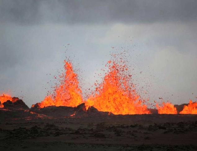 Бардарбунга извергается широко и интенсивно.
