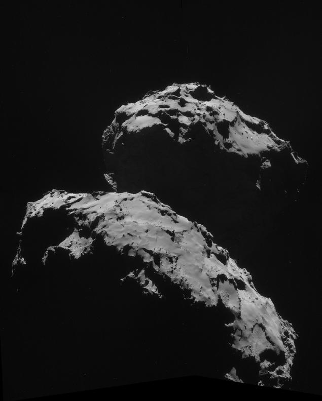 Снимок с сайта ESA: кометта Чурюмова-Герасименко. Объект - в верхней части кометы.