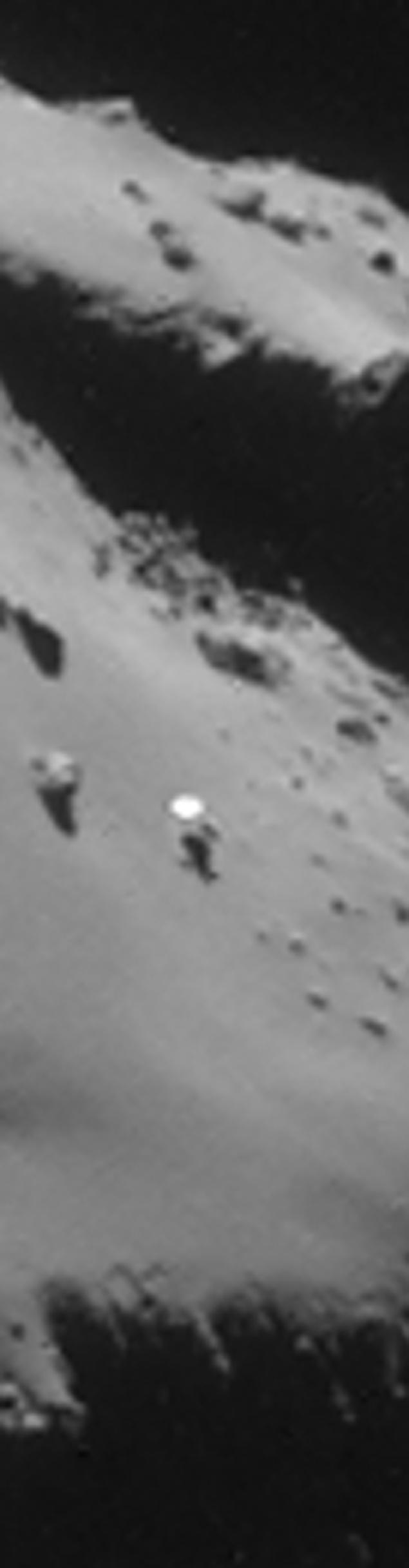 Действительно, рядом с кометой висит какой-то белый диск.