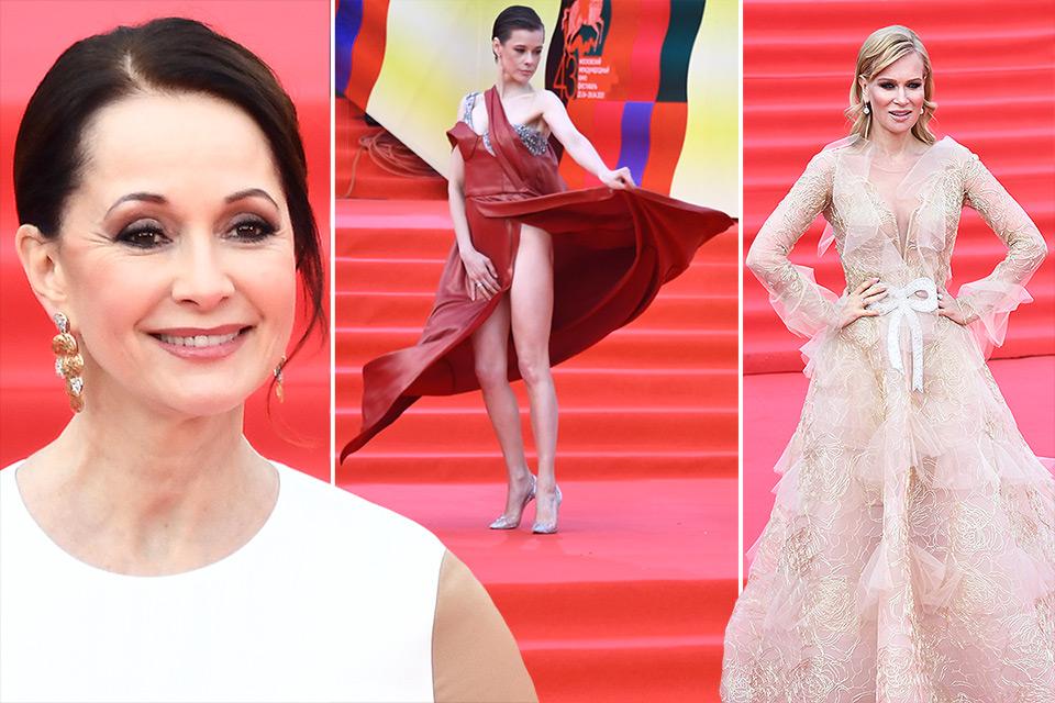 Закрытие ММКФ 2021: фото роскошной Ольги Кабо, смелой Кати Шпицы с декольте и Олеси Судзиловской в платье принцессы
