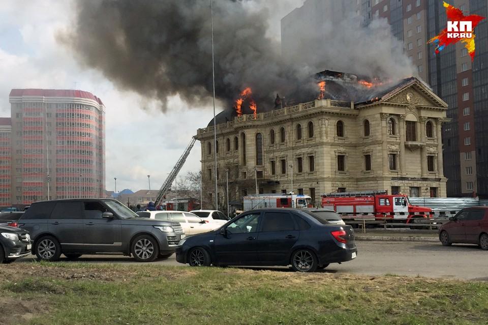 Пожарные расчеты уже выехали на место ЧП