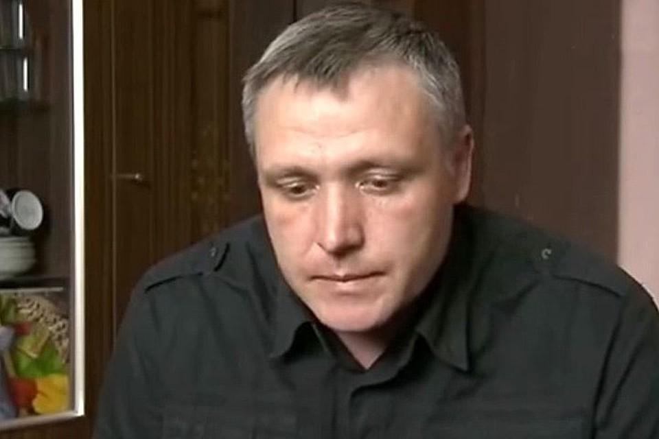 Отец погибшего мальчика Роман Шимко. ФОТО Первый канал