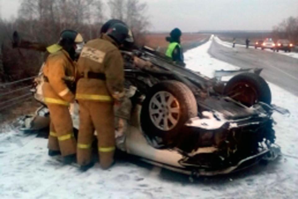 Жуткая авария произошла на федеральной трассе А-322 недалеко от Алейска.