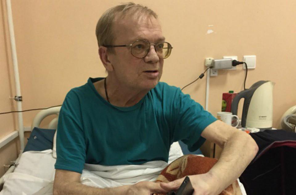 Николай Годовиков на больничной койке