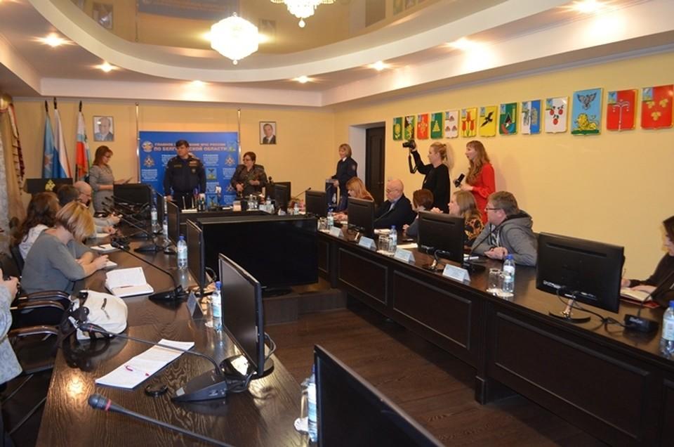 Пресс-конференция МЧС