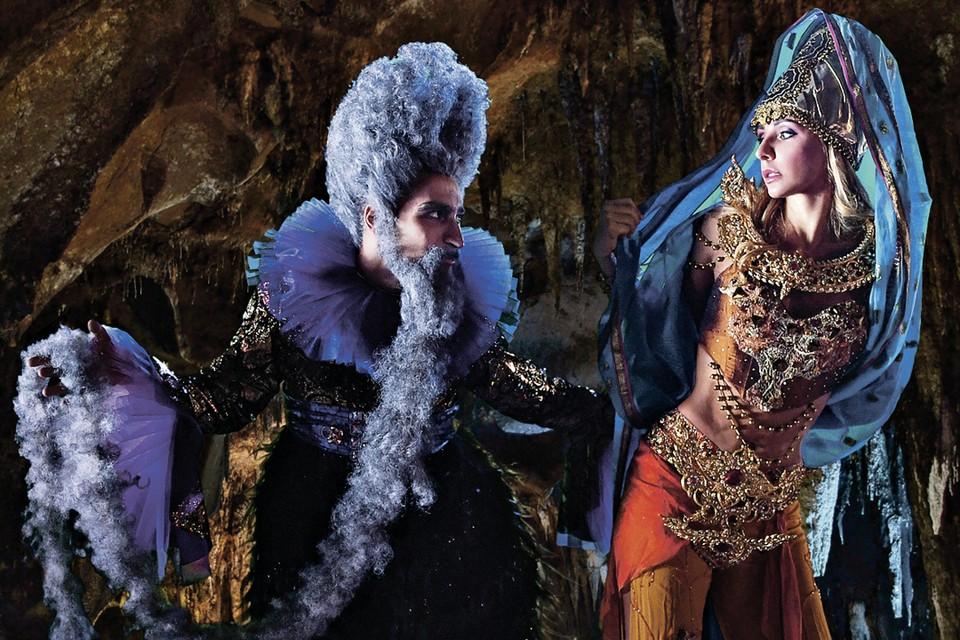 Татьяна Навка в шоу исполняет роль Людмилы, Черномора играет четырехкратный чемпион Италии Иван Бариев. Фото: Предоставлено организаторами шоу