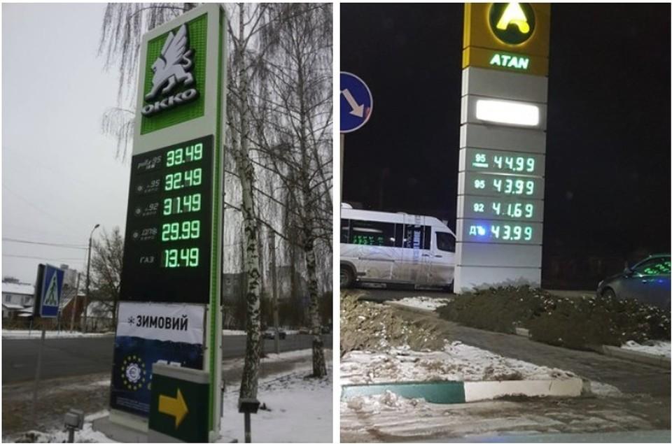Цены на бензин на Украине и в российском Крыму. Фото: Автопартнер Крым | ДТП ДПС ПДД