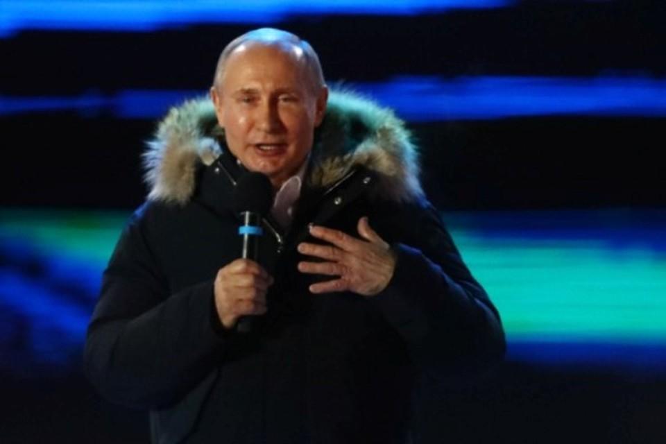 Президент России Владимир Путин поблагодарил всех, кто поддержал его на нынешних выборах