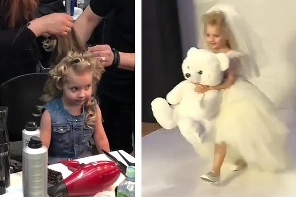 Лиза Галкина появилась на подиуме модного показа Валентина Юдашкина.
