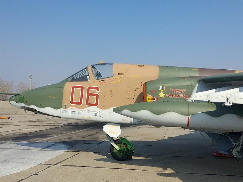 O avião de ataque Su-25 foi nomeado após o herói da Rússia, Roman Filipov. Foto: Serviço de Imprensa das Forças Aerotransportadas